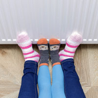 Feet heating